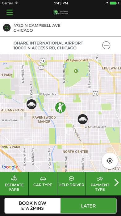 Open Taxis screenshot one