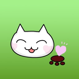 Houdini The Cat With Heart Mark Stickers