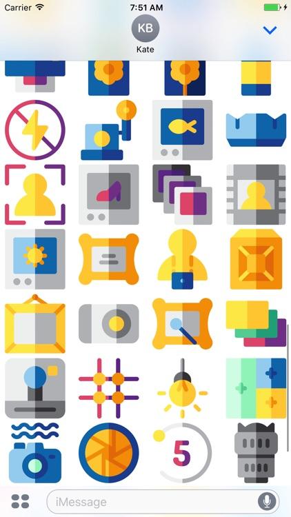 CameraMoji - Stickers for Photographers screenshot-3
