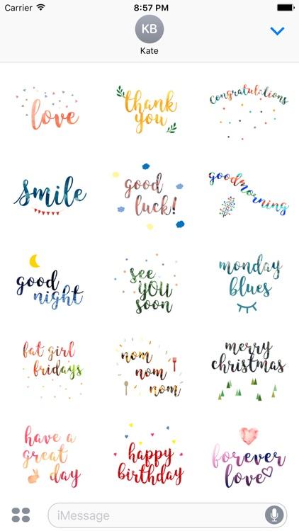 Quotemoji. Stickers by Design107