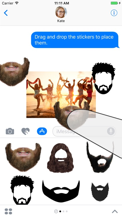 Beard and Mo Sticker Pack