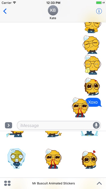 Mr. Biscuit Animated Stickers For iMessage screenshot-4