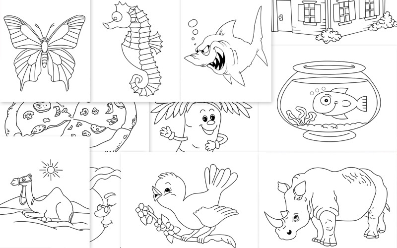 Coloring Book - Templates for MS Word for Mac