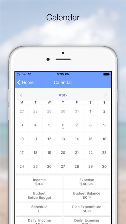 DailyDebit - Calendar