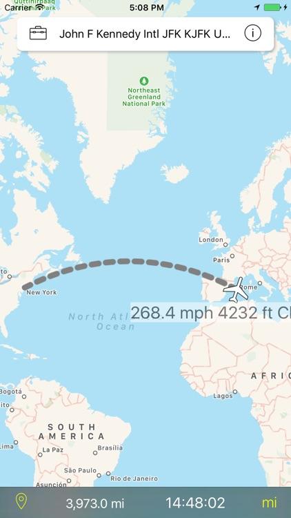 Flight Nav - Airplane mode GPS Tracker screenshot-3