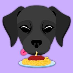Black Labrador Retriever Stickers for iMessage