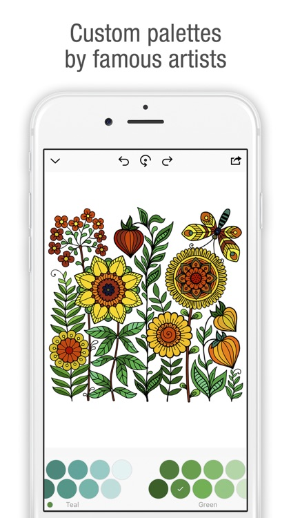 Tap & Color - Coloring book for adults & kids screenshot-3