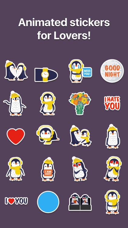 Love Penguins - Animated Pack for Valentines Day screenshot-0