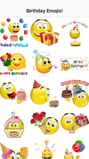 Birthday Emoticons Im App Store