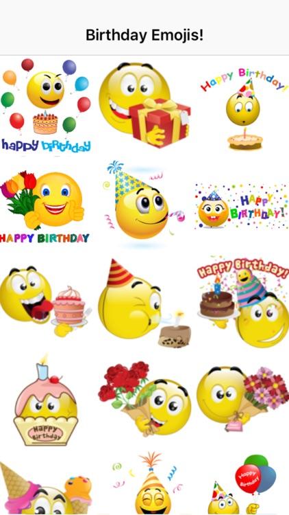 Birthday Emoticons screenshot-3