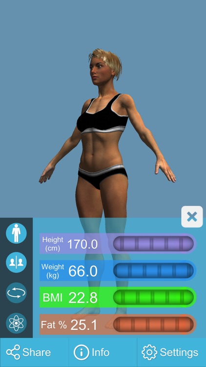 BMI 3D Pro (3D Body Mass Index calculator) screenshot-0