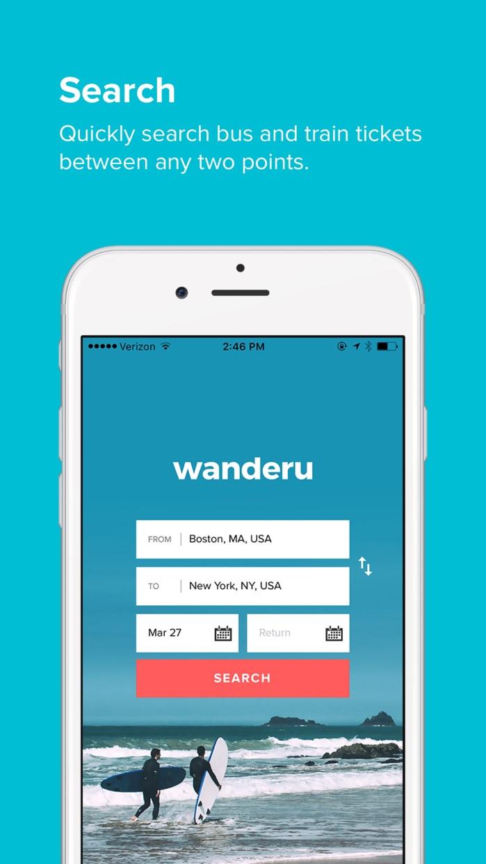 Wanderu - Bus & Train Travel Screenshot