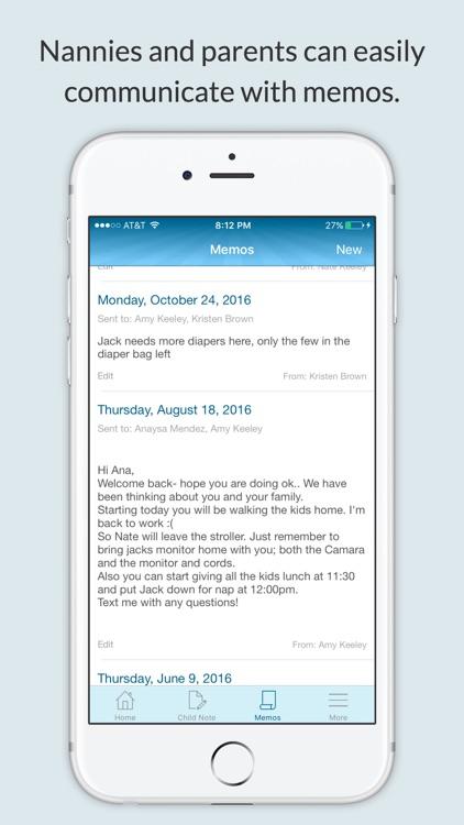NannyNotes (Daily sheet for parents & nannies) screenshot-4