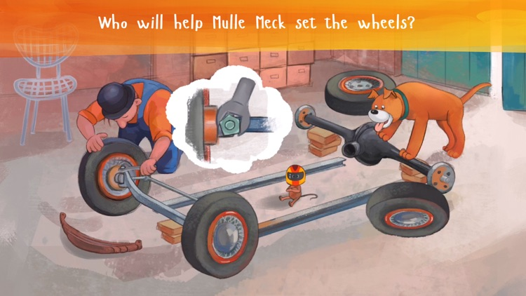 Mulle Meck builds a car — a children's book screenshot-3