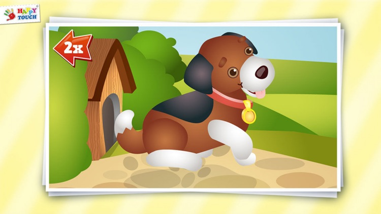 Animated Animal Puzzle for kids by HAPPYTOUCH® screenshot-3