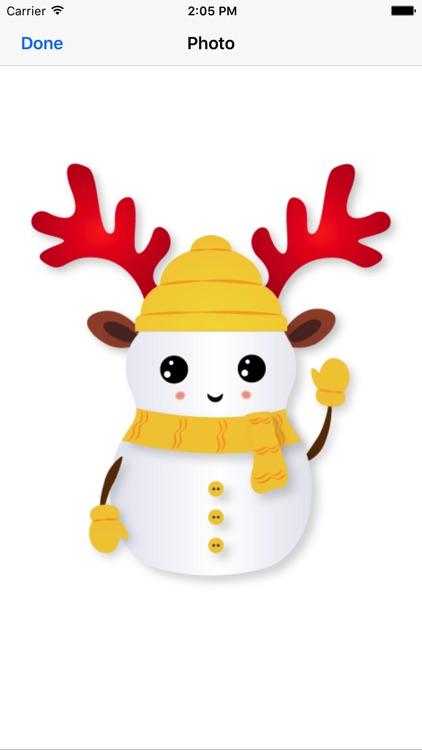 Little Snowman - Christmas Holiday Emoji screenshot-3
