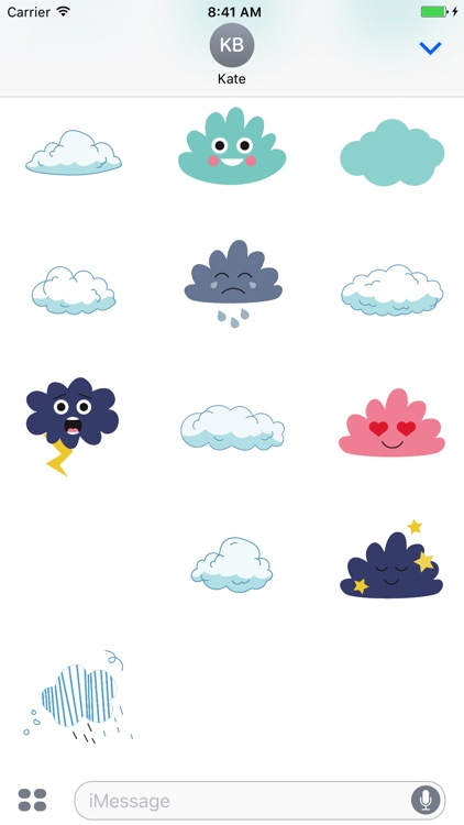 Animated Cute Cloud Stickers screenshot-3