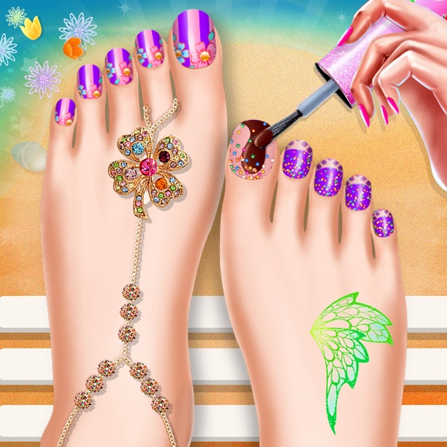 Toe Nail Salon Beauty Nail Art For Fashion Girls:在 App
