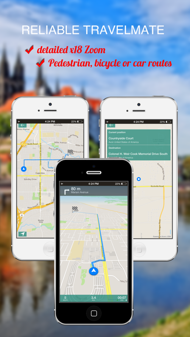 Zurich, Switzerland : Offline GPS Navigation