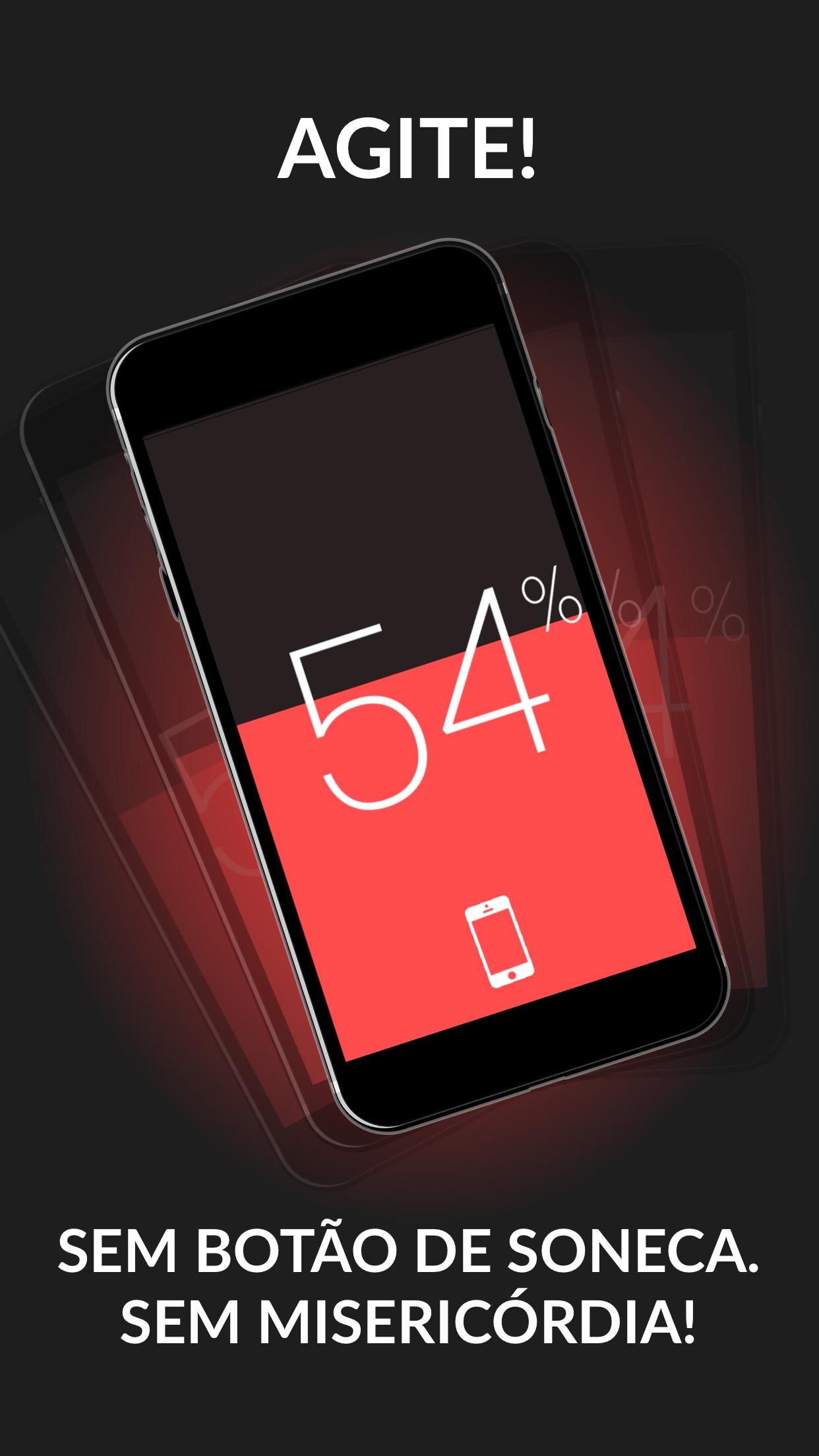 Screenshot do app Wake N Shake Despertador