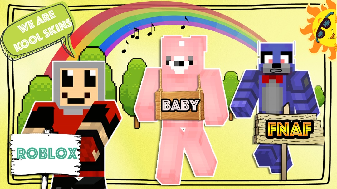 Roblox And Minecraft Combined Fnaf Roblox And Baby Skins For Minecraft Pe Online Game Hack And Cheat Gehack Com