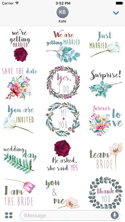 Wedding Watercolor Stickers