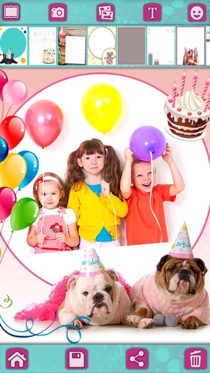 Birthday greeting cards & stickers – Photo editor