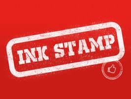 Ink Stamp - Rubber Stamp Stickers