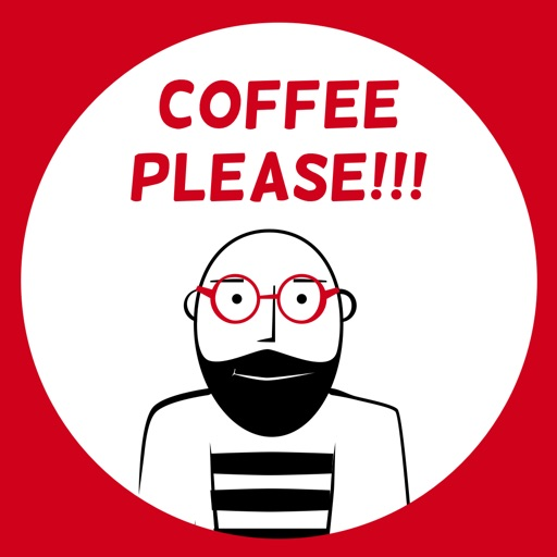 Coffee Please - Hipster & Indie cafe stickers