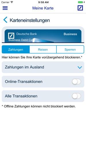 Deutsche Bank Ec Karte.Meine Karte Deutsche Bank Ag Im App Store
