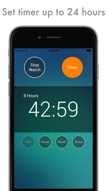 Advanced Chrono: both timer & stopwatch in one app