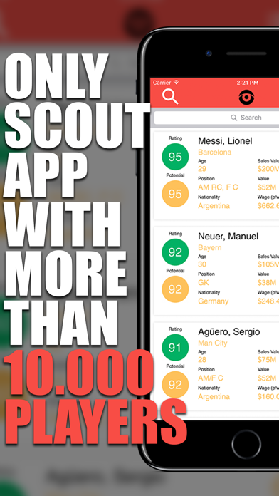 iScout - FM 2017 Football Player Scout