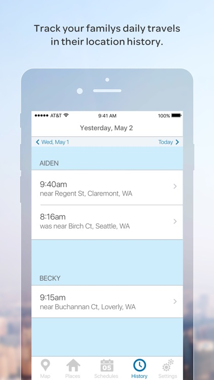 AT&T FamilyMap® app image