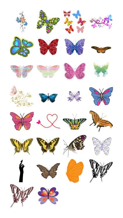 Butterflies Three Sticker Pack