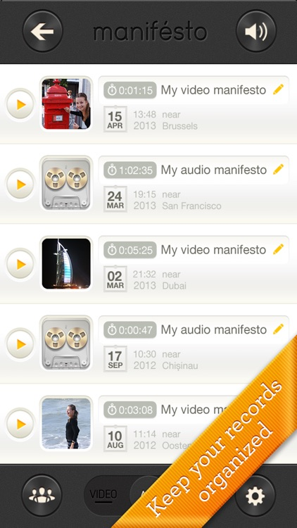 Manifesto - fast instant video & voice recorder