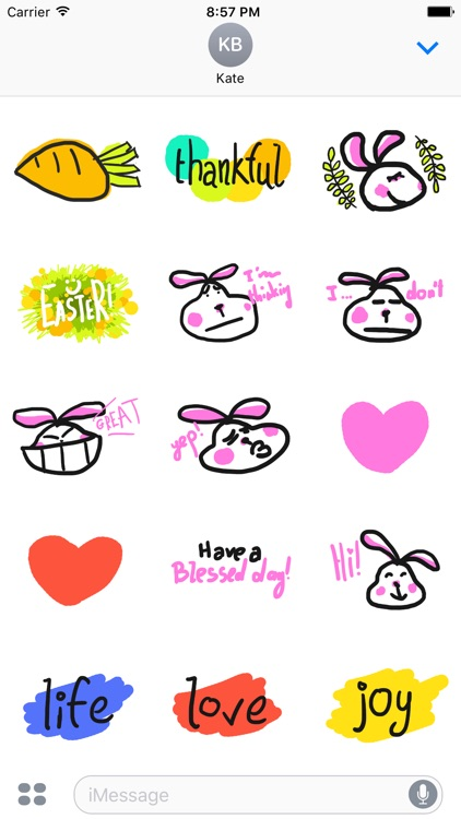 Fat Easter Bunny - Easter Spring Stickers Emoji
