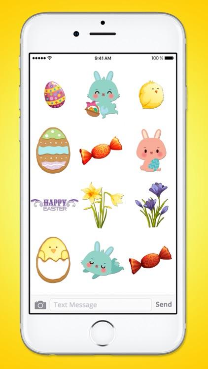 Happy Easter Basket Sticker Pack screenshot-3