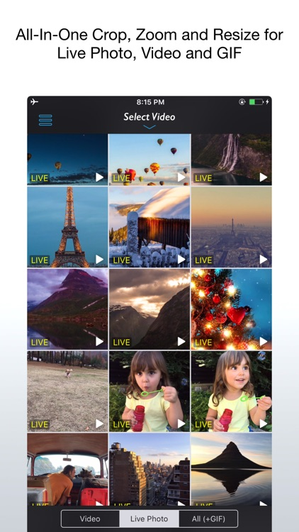 Live Crop for Live Photo, Video and GIF