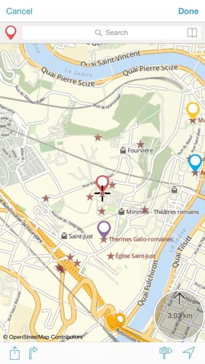Lyon on foot : Offline Map screenshot-3