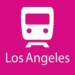 Los Angeles Rail Map Lite