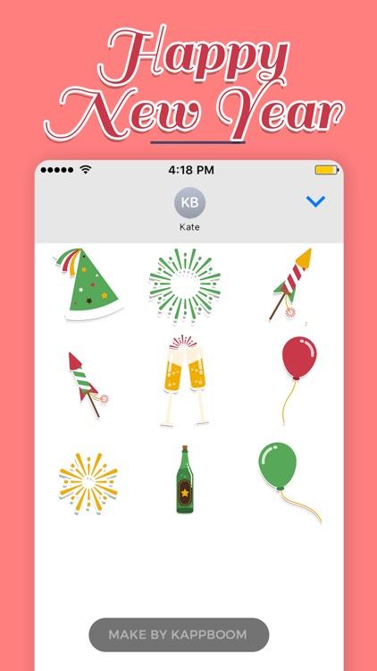 Happy New Year Sticker by Kappboom screenshot-4