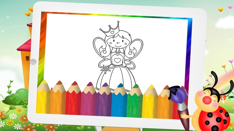 Princess Fairy Tale and Wonderland Coloring page