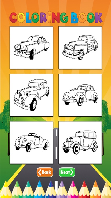 Car Cassic Coloring Book - Activities for Kid screenshot-3