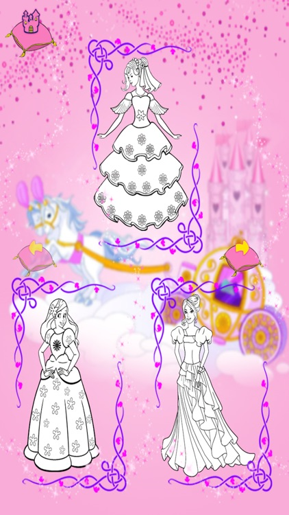 Princess Coloring Book Games For Girls screenshot-3