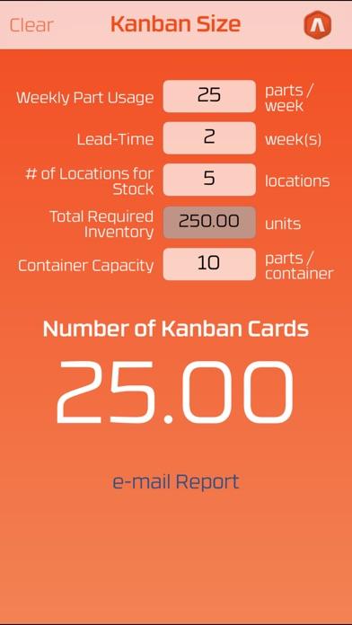 Kanban Size Screenshots