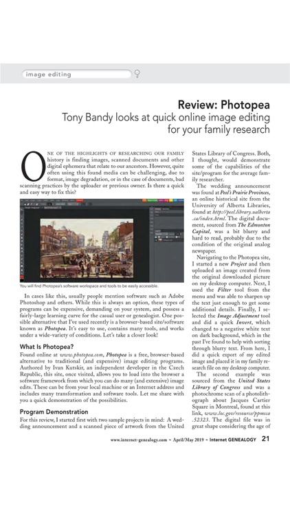 Internet Genealogy Magazine screenshot-3