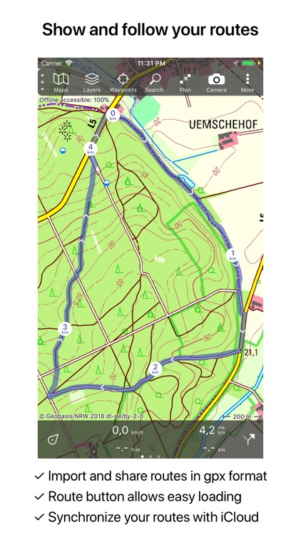 Topo GPS Germany screenshot-2