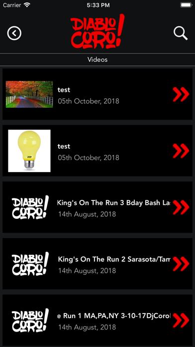 iCoro screenshot three