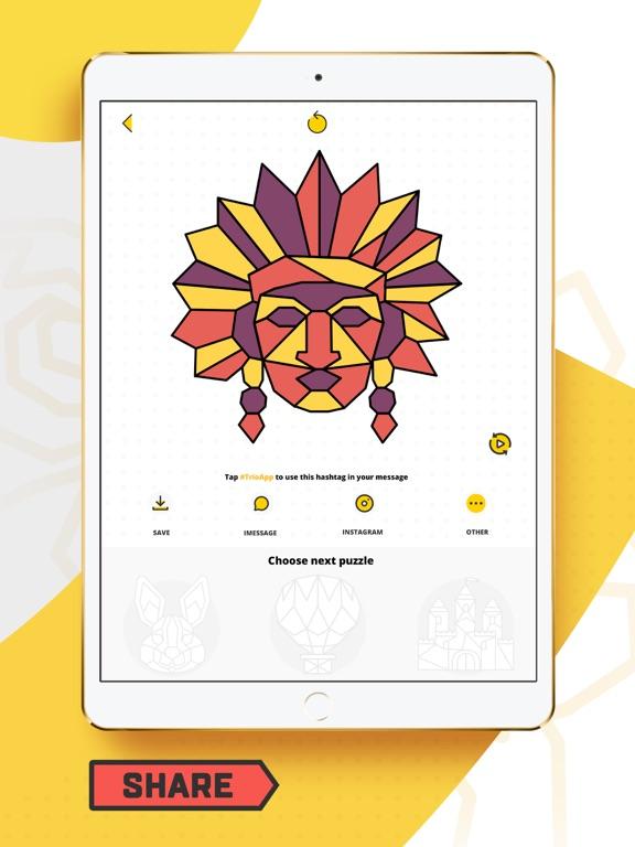 Trio - Polygon Coloring Puzzle screenshot 10