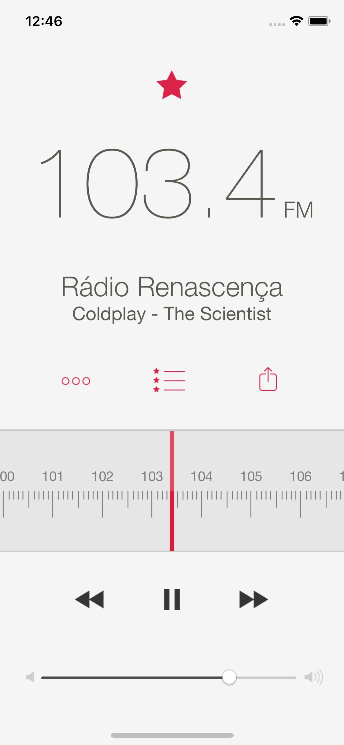 Screenshot do app RadioApp Pro
